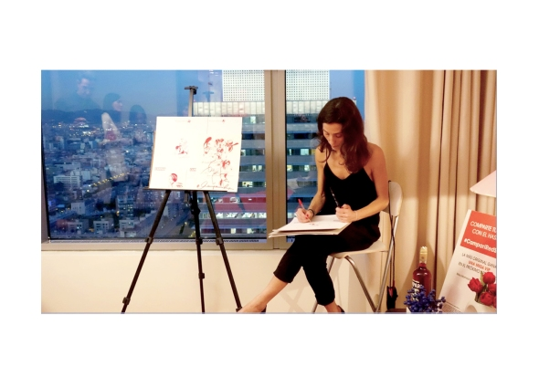 4ª #CampariRedSuite4, el afterwork exclusivo celebrado el 21 de octubre en la suite dúplex de lujo del Hotel Arts, Barcelona, con Juana Acosta como anfitriona.